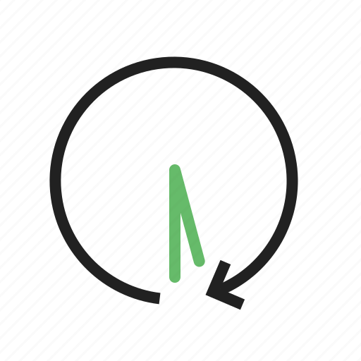 arrow, back, countdown, history, hour, past, time icon