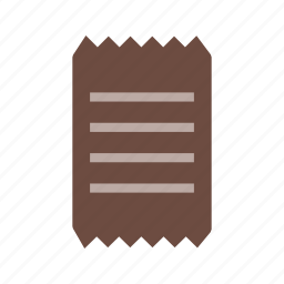 bill, document, form, income, invoice, paper, receipt icon