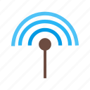 antenna, cable, connection, input, plug, signal, technology icon