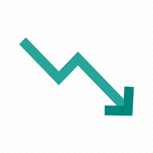 business, chart, down, graph, market, trend, trending icon