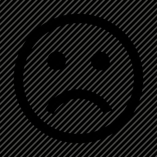 Emoji, emoticons, emotion, face, sad icon - Download on Iconfinder