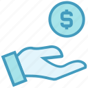 coin, dollar, finance, funds, hand, money, payment