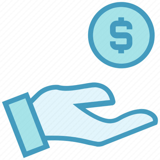 coin, dollar, finance, funds, hand, money, payment icon