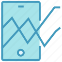 analytics, bar, chart, graph, mobile, phone, stats icon