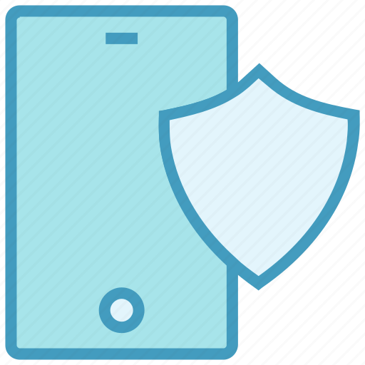 Antivirus, mobile, mobile security, protected, security, security app, shield icon - Download on Iconfinder