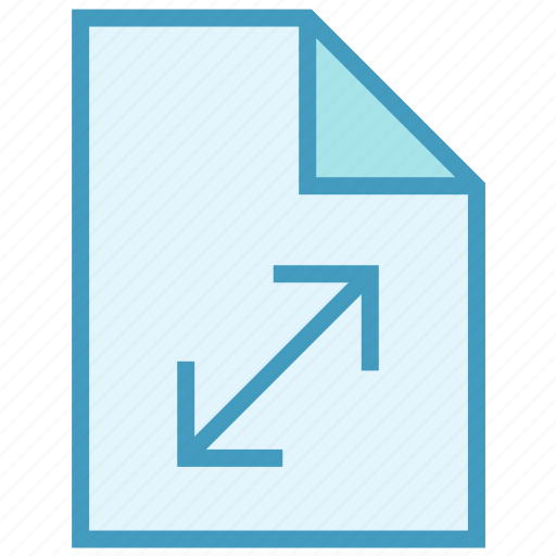 Arrows, document, expand, file, page, paper icon - Download on Iconfinder