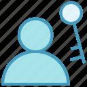 employee, human, key, password, people, person, user icon