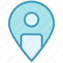 gps, location, map, navigation, pin, point, user