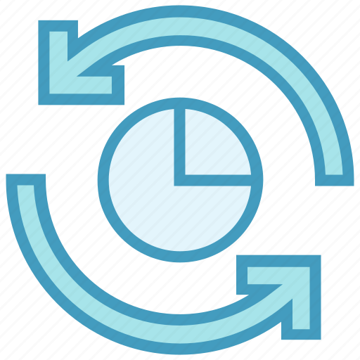 chart, graph, pie, refresh, reload, sync icon