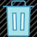 bin, delete, dust bin, garbage, office, trash, waste bin