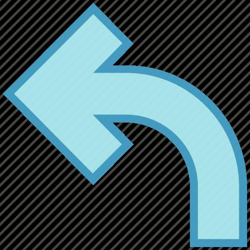 Arrow, back, left, left arrow, up icon - Download on Iconfinder