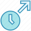 alarm, arrow, clock, time, up, up arrow, watch icon