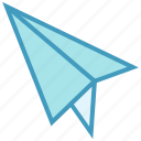 airplane, creativity, message, paper, paper plane, plane, send icon