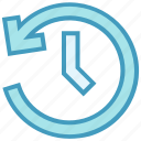 arrow, clock, optimization, sync, time, watch icon