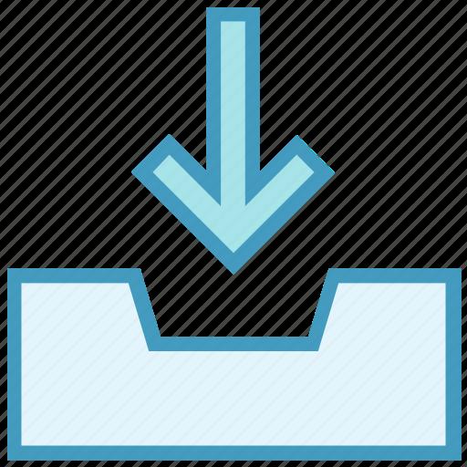 arrow, direction, down, download, draw, draw down arrow icon