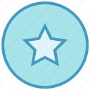 badge, bookmark, circle, favorite, rate, rating, star icon
