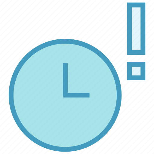 alarm, clock, exclamation, mark, optimization, time, watch icon