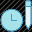 alarm, clock, optimization, pencil, schedule, time, watch