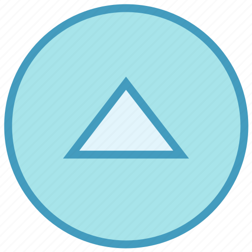 Arrow, circle, media, triangle, up icon - Download on Iconfinder