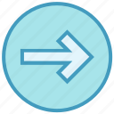 arrow, circle, forward, material, right, right arrow icon