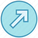 arrow, circle, forward, material, up, up arrow icon