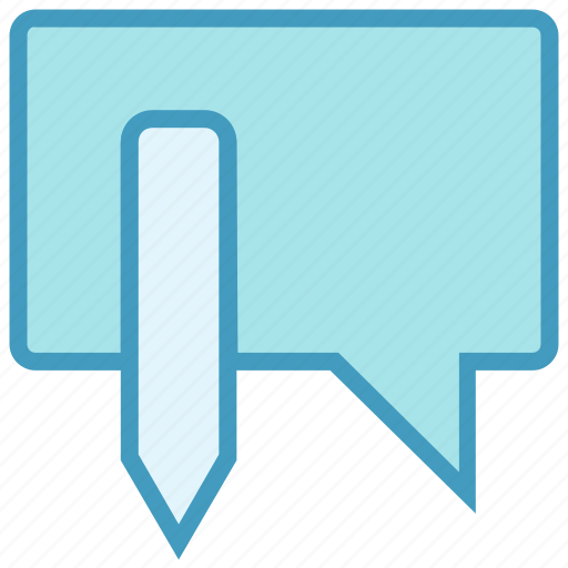 bubble, chat, edit, message, pencil, sms, texts icon