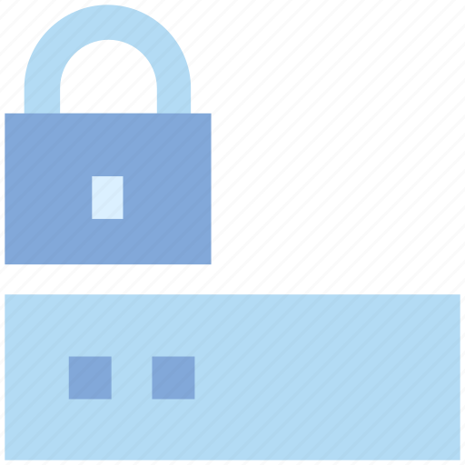 closed, database, lock, protected, secure, security, server icon