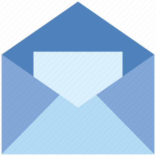 email, envelope, letter, mail, message, opened, paper icon