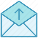 email, envelope, letter, mail, message, send, up arrow