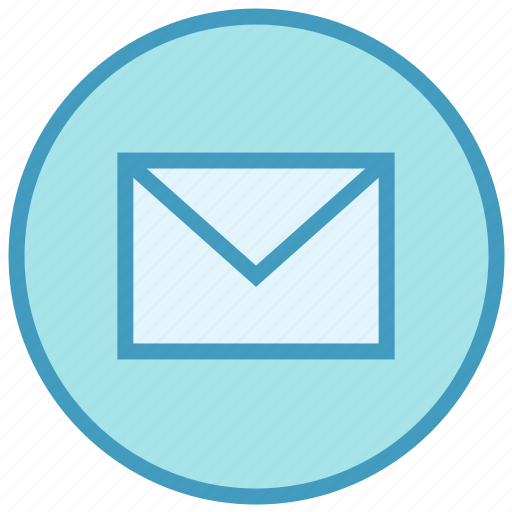 circle, closed, email, envelope, letter, mail, message icon