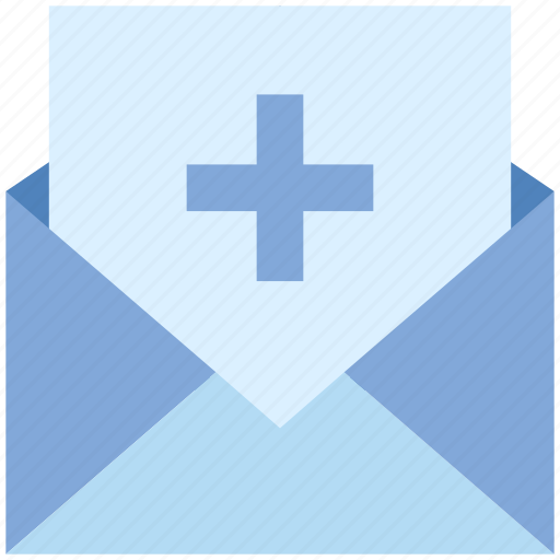 add, email, envelope, letter, mail, message, plus icon
