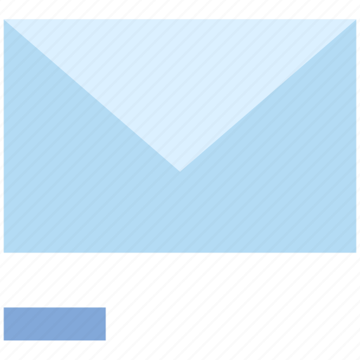 email, envelope, letter, mail, message, minus, remove icon