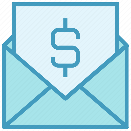 Dollar, email, envelope, letter, mail, message, money icon - Download on Iconfinder