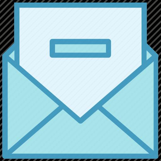 Delete, email, envelope, letter, mail, message, minus icon - Download on Iconfinder