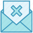 cancel, cross, email, envelope, letter, mail, message icon