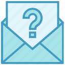 email, envelope, help, letter, mail, message, question mark