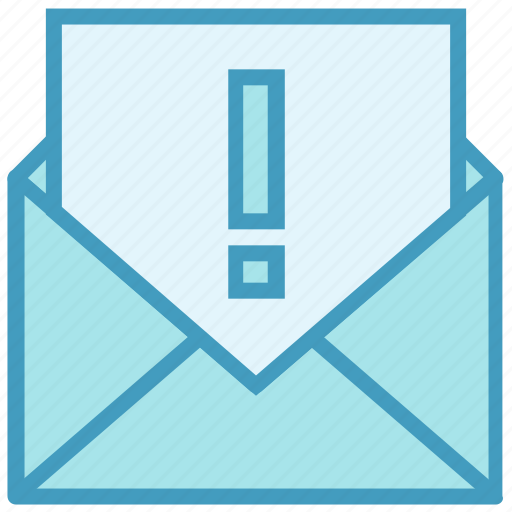 Email, envelope, exclamation, letter, mail, mark, message icon - Download on Iconfinder