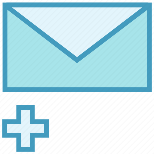 Add, email, envelope, letter, mail, message, plus icon - Download on Iconfinder
