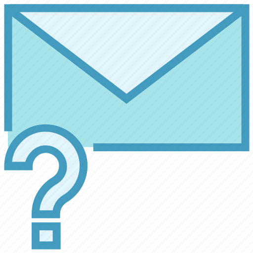 email, envelope, help, letter, mail, message, question mark icon