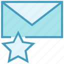 email, envelope, favorite, letter, mail, message, star