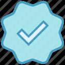 accept, check, sign, tag, tick mark