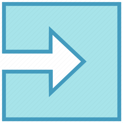 arrow, box, forward, material, right, right arrow, square icon