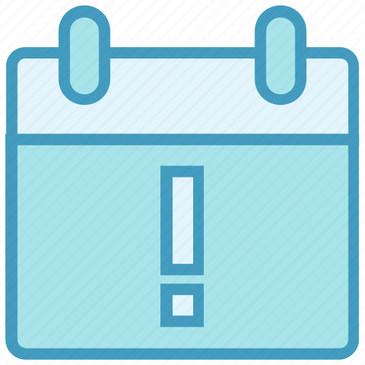 Agenda, appointment, calendar, date, exclamation mark, help, schedule icon - Download on Iconfinder
