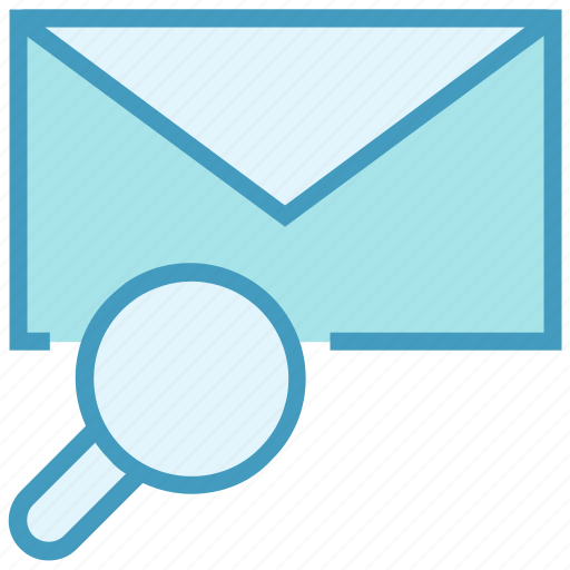 email, envelope, find, letter, magnifier, mail, message icon