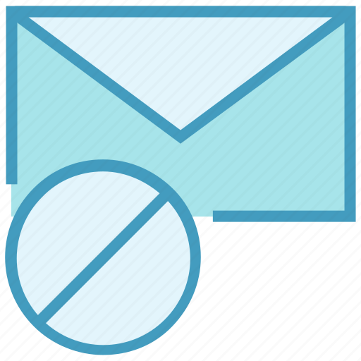Ban, block, email, envelope, letter, mail, message icon - Download on Iconfinder