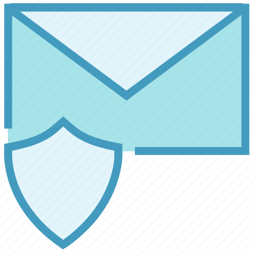 Email, envelope, letter, mail, message, secure, shield icon - Download on Iconfinder