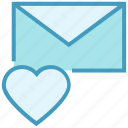 email, envelope, favorite, heart, letter, mail, message icon