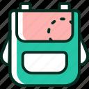 baby, mother, satchel, schoolbag icon