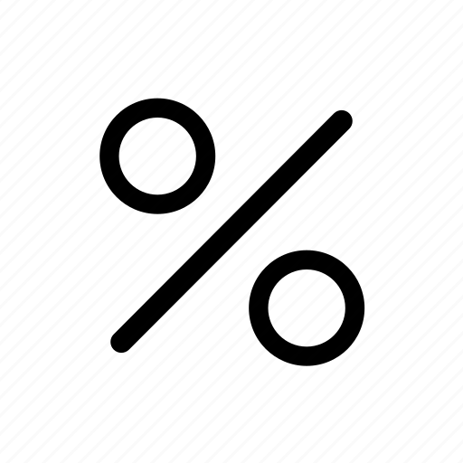 percent, percentages icon