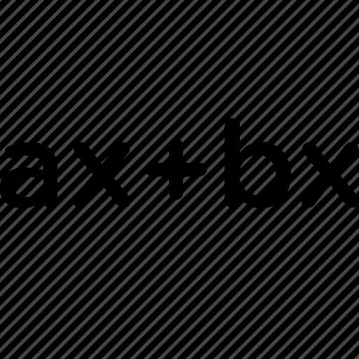 algebraic, expressions, simplification of algebraic expressions icon